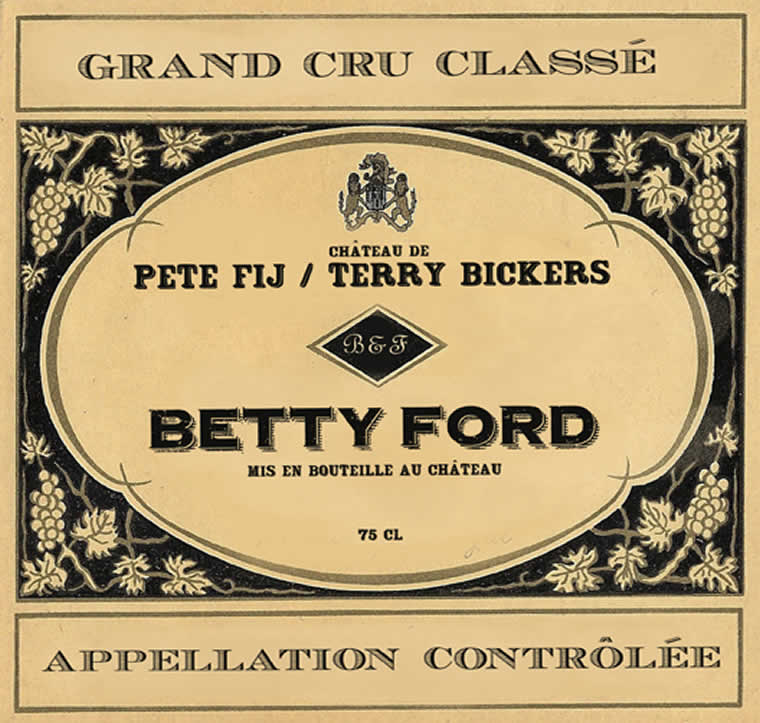 Pete Fij Terry Bickers Betty Ford