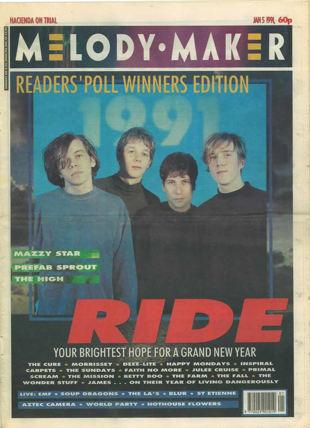 Ride - Melody Maker cover