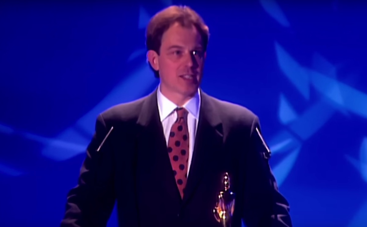 Tony Blair at The Brit Awards