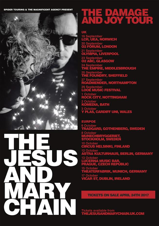 Mary Chain tour dates