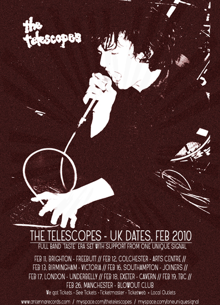 The Telescopes February 2010 Tour Poster