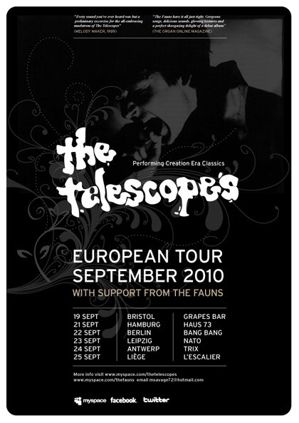 The Telescopes tour poster Sept 2010