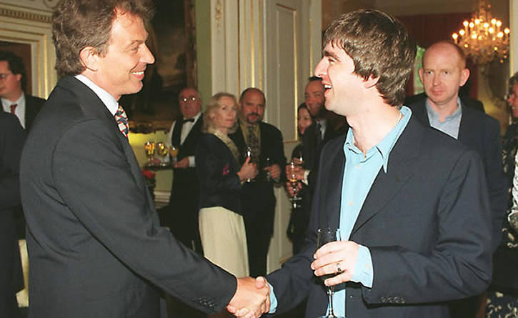 Noel and Alan at 10 Downing Street
